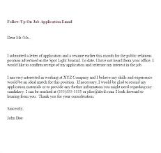 Follow Up Letter Template After Interview Follow Up Email After