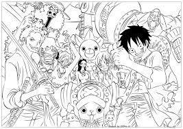 Tranh tô màu One Piece - Vua hải tặc đẹp nhất cho bé