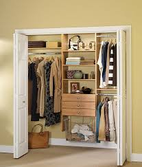 view in gallery well organized small closet