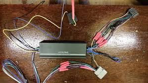 help building metra harness (w o cutting factory wires) for alpine Amp Wiring Diagram for Alpine KTP-445A this image has been resized click this bar to view the full image