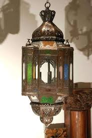 colored glass light fixtures very nice handcrafted glass pendant this multi color glass style lantern is