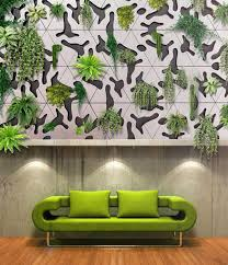 concrete indoor outdoor modular green wall tiles from france