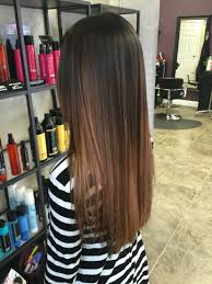 Dark Brown Carmel Balayageombre Beauty Board Thin Straight