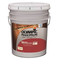 Olympic Maximum Solid Color Stain Color Chart Olympic Maximum 5 Gal White Base 1 Solid Color Exterior Stain And Sealant In One