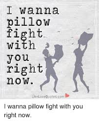 Love Fight Quotes Extraordinary I Wanna Pillow Fight With You Right Now Like Love Quotescom I Wanna