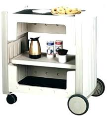 Folding Service Carts Hotel Serving Carts With Folding Panel Serving
