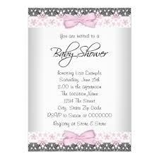 baby girl invite vintage pink and gray baby girl shower invitation card
