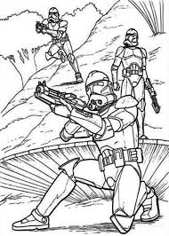 Small Picture The Clone Troopers Standby in Star Wars Coloring Page Download