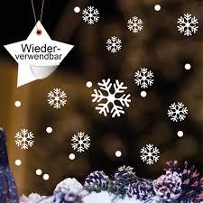 Wandtattoo Loft Fensteraufkleber Schneeflocken Und Punkte Wiederverwendbar 50 Stk Aufkleber Im Set In Der Farbe Weiss Konturgeschnitten Ohne