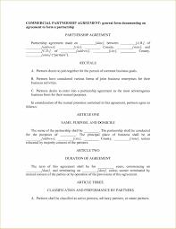 New Business Partnership Separation Agreement Template | Best ...