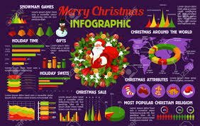 Gift Chart Template Christmas Holiday Infographic Template With Santa And Xmas Tree