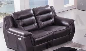 dark brown full italian leather recliner sofa american eagle ek089 db