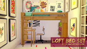 Sims Bedroom Loft Bed Set I Made A Little Set For You Space Saving Simmers It