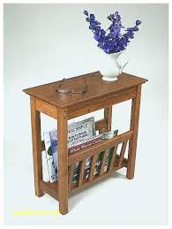 End Table With Magazine Holder