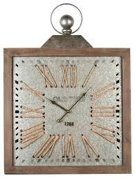 antique epoch wood frame wall clock
