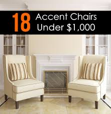 Living Room Chairs 25 Attractive Accent Chairs Under 100 For 2017