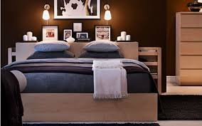 ... remarkable Malm Bedroom Set with wooden bed with blue bed linen, wooden  headboard and nightstand marvelous Malm Bedroom furniture ...