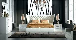 Contemporary White Lacquer Bedroom Furniture Set Astounding Bedro ...