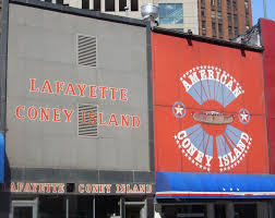 lafayette and american coney islands both sell the chili topped coney dogs benlmoyer via wikimons