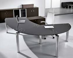 ergonomic office design. Ergonomic Black Glass Office Desk Design S