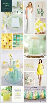 Mint and yellow wedding inspiration #wedding #details #bridal  Mint Color  PalettesWedding ...