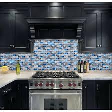 glass mosaic kitchen backsplash glass subway tile mosaic blue glass subway