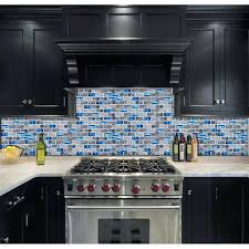 glass mosaic kitchen backsplash glass subway tile mosaic blue glass subway