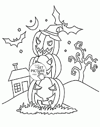Small Picture Halloween Pumpkins coloring pages for kids halloween printables