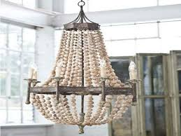 wood bead chandelier casual elegance dramatic and distinctive nautical lighting