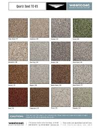 Westcoat Epoxy Color Chart Color Charts Epoxy Flooring Designer Epoxy Finishes Inc