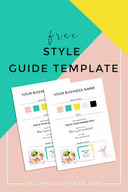 Style Template Free Style Guide Template For Your Brand Tell Me Tuesday