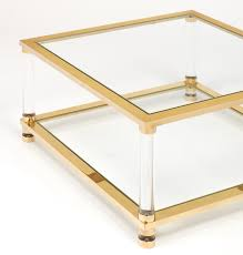Antique Brass Glass Coffee Table Mid Century Brass Glass Coffee Table 1950s For Sale At Pamono