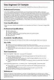 Cv Samples For Engineering Students Gas Engineer Cv Sample Myperfectcv