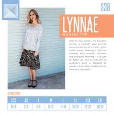 Womens Lularoe Lynnae Top Size Chart Including 2018 Updated