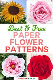 Paper Flower Designs Diy Paper Flowers The Best Free Tutorials Patterns