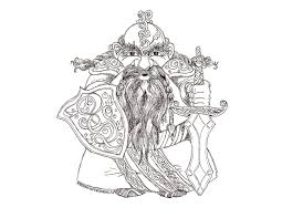 Small Picture Free Coloring Page Dwarf King Whimsical Publishing Bebo Pandco