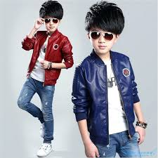 boys leather jacket teenage boys leather jackets spring and autumn kids red leather er coats children