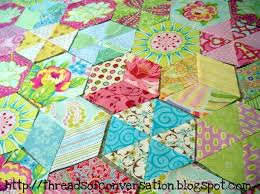 Easy {hand} Piecing: A Tutorial | made by a brunnette & Long time readers of my blog know of my obsession for Janet's quilt, and  the Candied Hexagon quilt pattern in general… I started my Candied Hexagon  quilt in ... Adamdwight.com