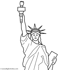 Small Picture Statue of Liberty top with title Coloring Page Memorial Day