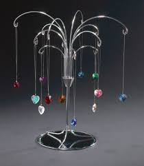 Suncatcher Display Stands Mini Crystal Heart Display Package 4