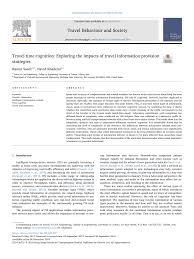 pdf travel time cognition exploring the impacts of travel information provision strategies