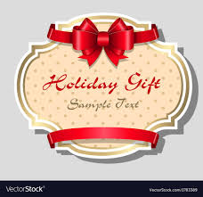 Holiday Gift Card Template Holiday Gift Card Template Royalty Free Vector Image