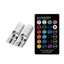 Bộ đèn LED RGB demi điều khiển đổi màu + nháy sáng chuẩn T10 12v lắp cho xe  máy, ô tô - Gương, đèn xe máy Thương hiệu OEM