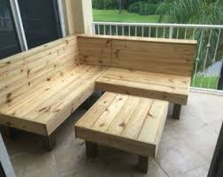 yellow patio furniture. The Sectional - Rustic Wood Patio Benches And Table Or Ottoman. Makes A 6x6  Sectional Yellow Furniture