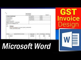 Create An Invoice Template In Word How To Design Simple Gst Invoice Format In Ms Word Microsoft Word Tutorial