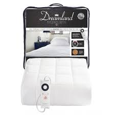 dreamland cotton heated mattress protector best electric blanket for sdy heat up