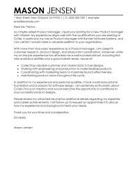 Marketing Cover Letter Examples Product Manager Contemporary X