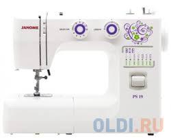 <b>Швейная машина Janome</b> PS-19 белый — купить по лучшей цене ...