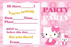 kids birthday invitations printable hello kitty birthday invitation template