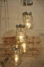 mason jar chandelier pendant mason jar light cer 4 clear jars industrial style lighting retro light clear wire